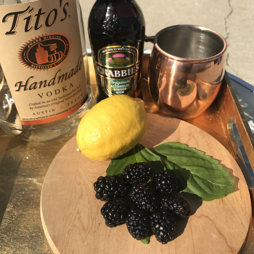 Lemon & Blackberry Moscow Mule
