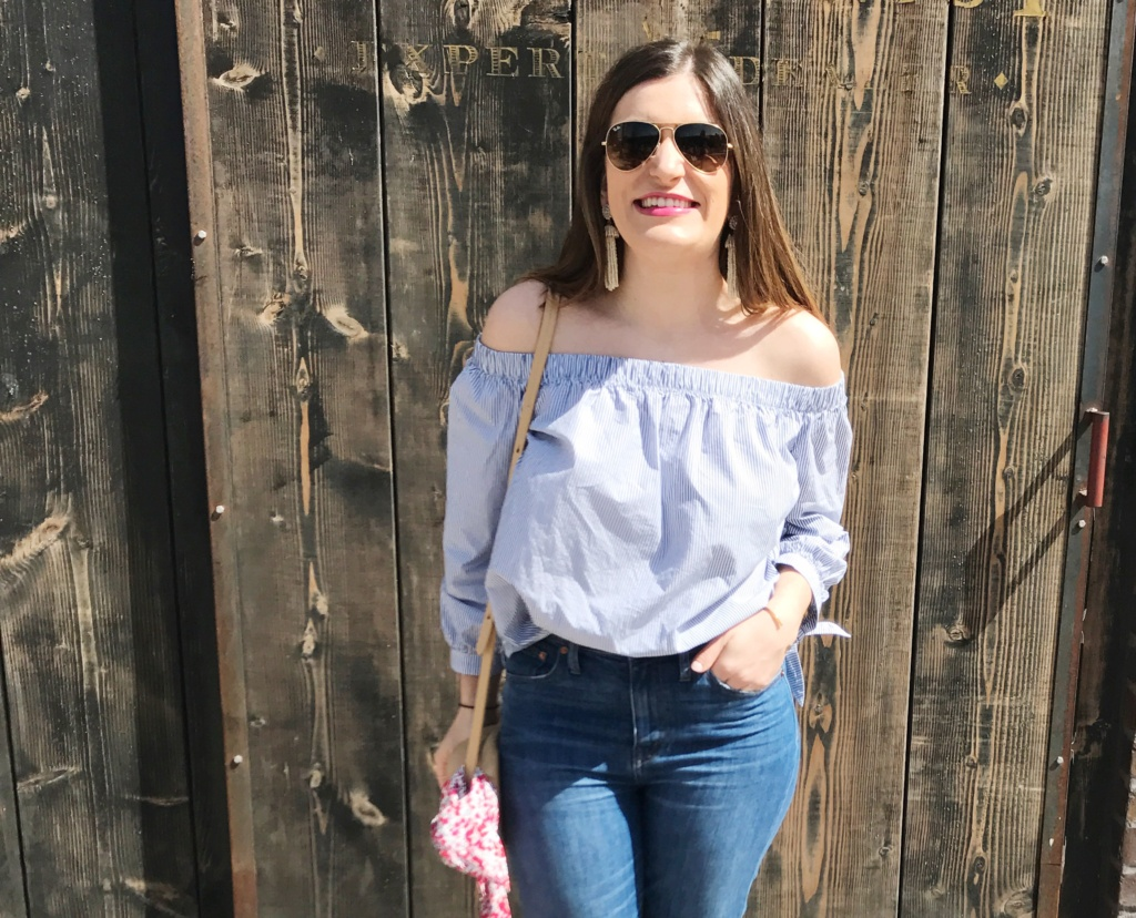 Off-the-shoulder top | Abercrombie & Fitch | Spring Style