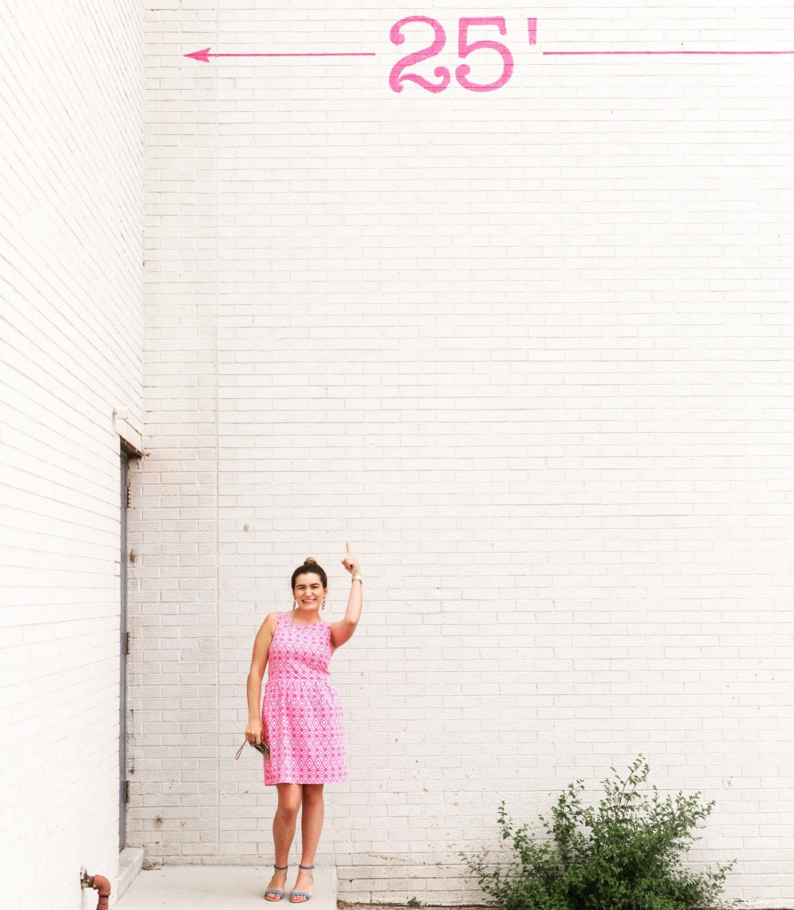 Pink Brooks Brothers Dress | summer style | white brick