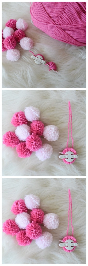 Step 1: diy pom-pom clutch