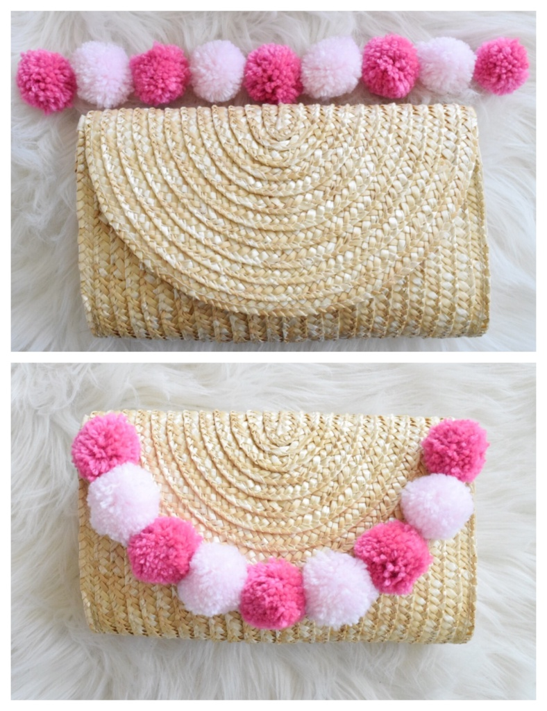 Step 2: diy pom-pom clutch