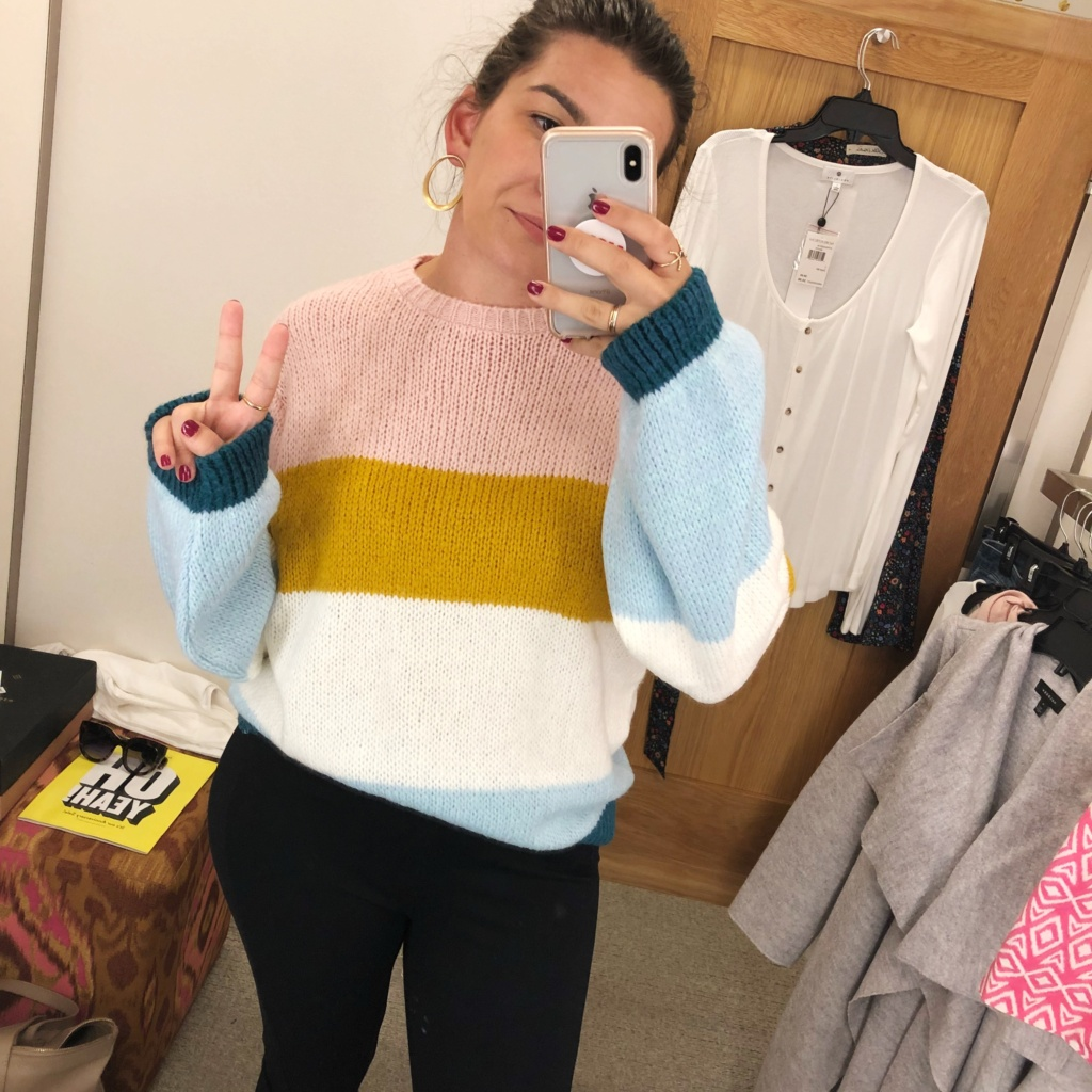 My Strategy for Shopping the Nordstrom Anniversary Sale | Colorblock Sweater